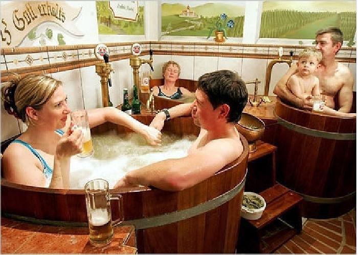 Tắm bia ở Đức