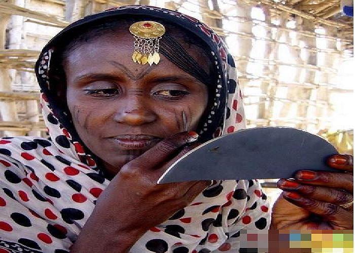 Xăm mặt ở Châu Phi