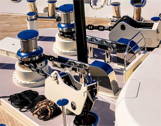 Từng bộ phận, chi tiết nhỏ trên du thuyền đều được chăm chút kỹ lưỡng. Đây hẳn là một khối lượng công việc khổng lồ.
