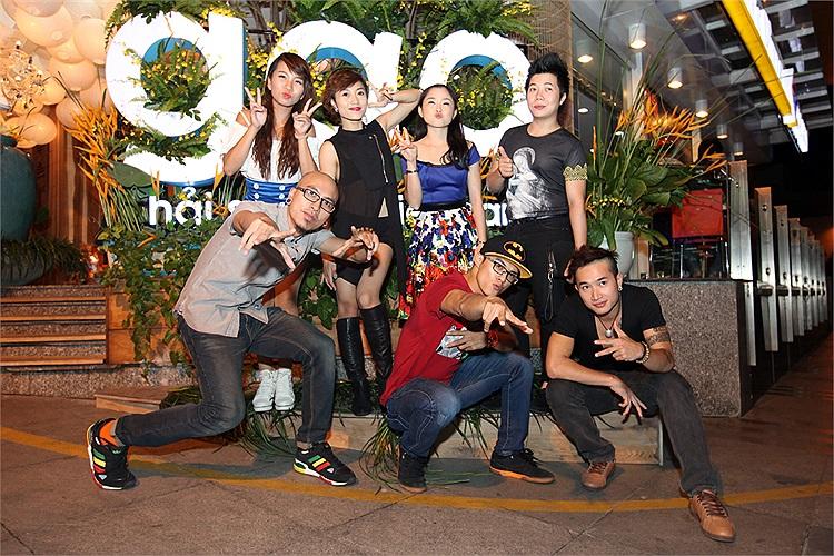 Lâm Vinh Hải cùng bạn bè tại cuộc thi 'Thử thách cùng bước nhảy' mùa vừa qua.