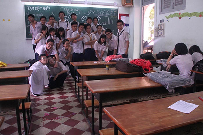 Tại từng lớp học, cũng diễn ra buổi tổng kết của lớp.