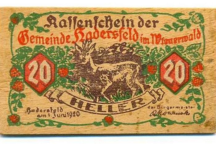 Tiền gỗ gây bất tiện trong việc cất giữ, nhưng nó từng là một trong những 'công cụ' giúp Đức tái thiết kinh tế sau Thế chiến thứ nhất (1914 - 1918).