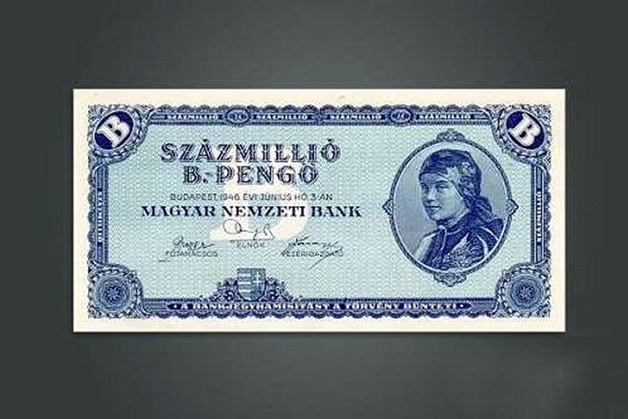 Năm 1946, kinh tế Hungary rơi vào cảnh lạm phát nghiêm trọng nhất trong lịch sử quốc gia này. Chính phủ Hungary khi đó từng phải phát hành đồng tiền có mệnh giá cao kỷ lục, lên tới 100 triệu tỷ pengo.