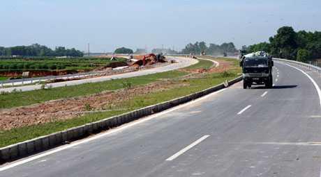 Đường cao tốc Hà Nội - Thái Nguyên (Ảnh: HNM)