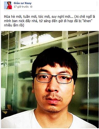 GS Xoay Đinh Tiến Dũng khoe tóc mới.