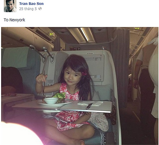 Bảo Tiên điệu đà trên máy bay.