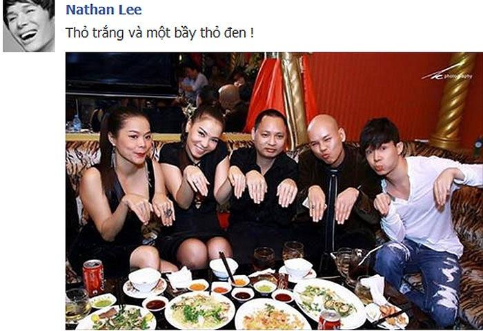 Những người bạn nghệ sỹ thân thiết cả ngoài cuộc sống: Mỹ Lệ, Thu Minh, Hải Phong, Phan Đình Tùng, Nathan Lee.