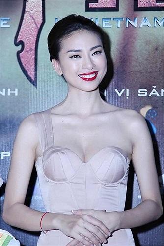 Ngô Thanh Vân trong lễ ra mắt phim Lửa phật.