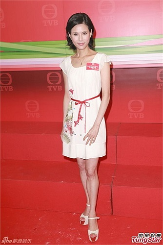 Ngày hôm qua, nữ diễn viên có mặt trong buổi ra mắt phim mới của đài TVB.