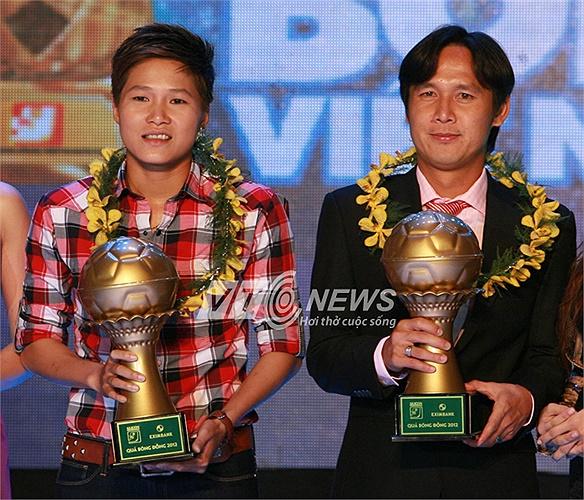 Cùng nhận Quả bóng đồng còn có tiền vệ Minh Phương của SHB Đà Nẵng.