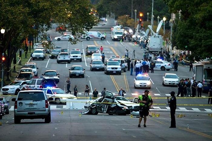 Cảnh tượng bên ngoài tòa nhà quốc hội Mỹ sau cuộc rượt đuổi
