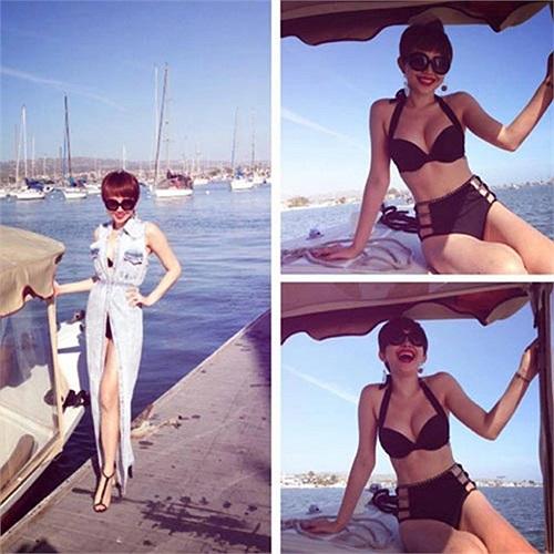 Ấn tượng nhất phải kể đến bộ ảnh bikini 'gây bão' của Tóc Tiên cách đây ít ngày.