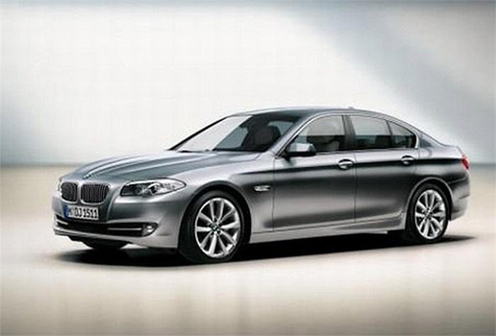 BMW 5-Series(Doanh số tiêu thụ: 12.139 chiếc): Dòng xe này ra đời năm 1972 và đến nay đã là thế hệ thứ 6. BMW 5-Series có loại động cơ xăng hoặc động cơ dầu, dẫn động cầu sau hoặc dẫn động 4 bánh.