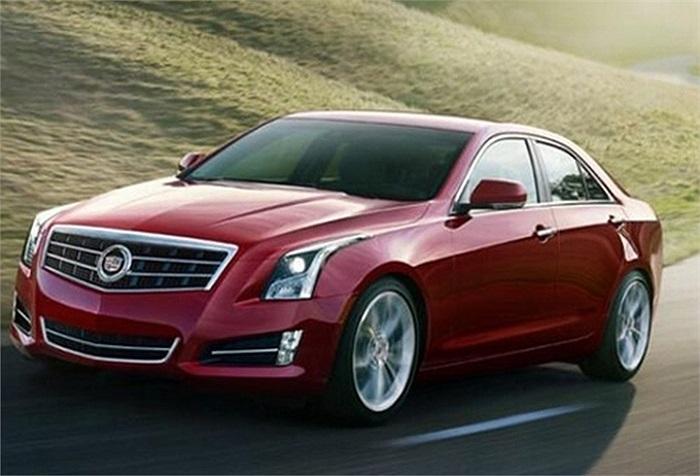 Cadillac ATS(Doanh số tiêu thụ: 9.750 chiếc):Chiếc xe cỡ nhỏ Cadillac ATS của General Motors được sản xuất từ năm 2012. Đây là chiếc nhỏ nhất của dòng Cadillac, lắp ráp tại bang Michigan (Mỹ).