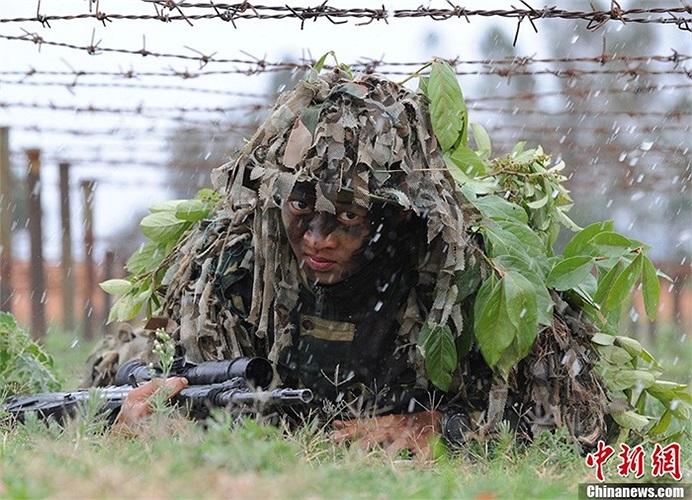 Các binh lính đến từ hải quân lục chiến tham gia tập luyện