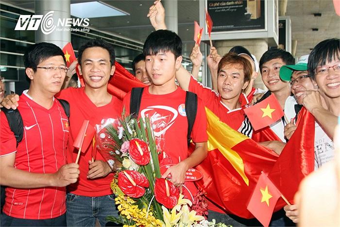 Đội trưởng Xuân Trường. Dù chấn thương không thể ra sân nhiều, nhưng Lương Xuân Trường luôn là chỗ dựa tinh thần cho các đồng đội.