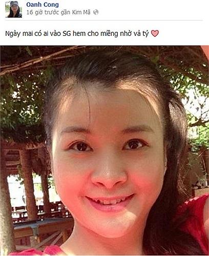 Diễn viên Kim Oanh đăng bức ảnh đời thường xinh tươi, trẻ trung.