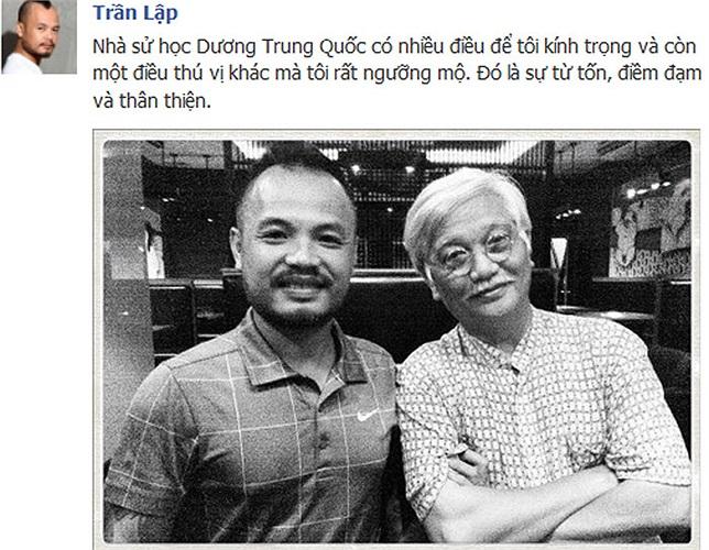 Ca sỹ Trần Lập và lòng ngưỡng mộ nhà sử học Dương Trung Quốc.