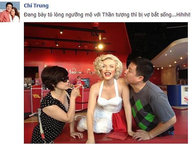 Hai vợ chồng nghệ sỹ Chí Trung đã có những khoảnh khắc hết sức vui vẻ và đáng yêu.