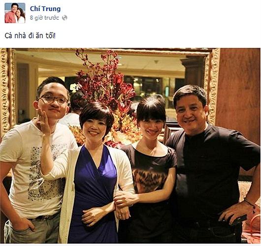 Cả gia đình nghệ sỹ Chí Trung.