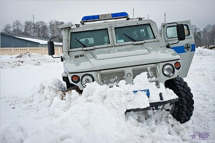 Tập luyện với các xe chở quân GAZ-233036