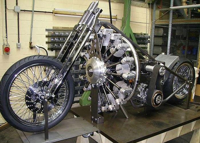 Động cơ đặc biệt này được thiết kế lộ ra ngoài và sắp xếp theo hình tròn.