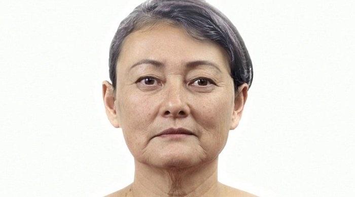 Cấu trúc xương mặt của Danielle có một sự thay đổi nhẹ ở độ tuổi khoảng 60.