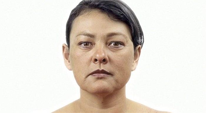 Hình ảnh khuôn mặt của Danielle khi bắt đầu bước vào độ tuổi xế chiều.