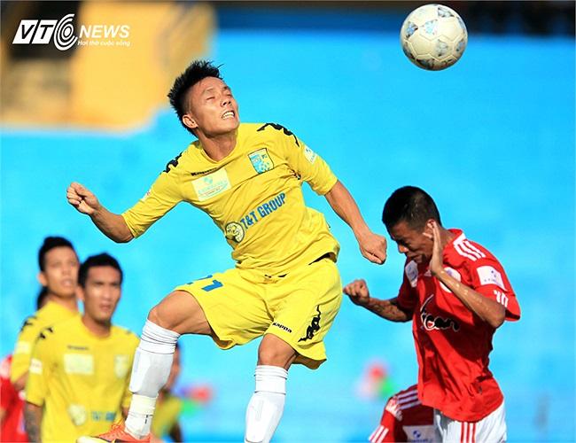 Tiền vệ Ngọc Duy cũng khẳng định giá trị của mình bằng bàn thắng nâng tỷ số lên 2-0 cho Hà Nội T&T.