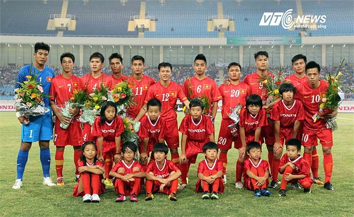 Đội hình xuất phát của U23 Việt Nam.