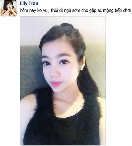 Elly Trần than vãn có một ngày không vui.