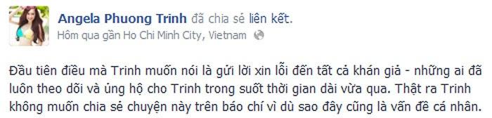 Angela Phương Trinh 'tự thú' khi không tham dự kỳ thi tốt nghiệp năm nay.