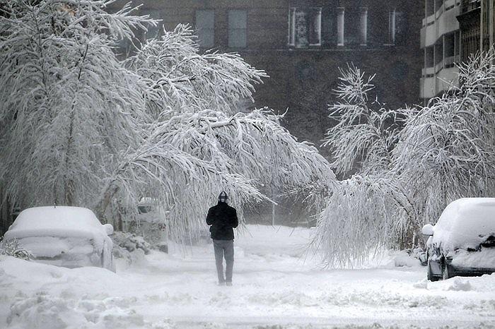 Tuyết rơi nhiều ở Kansas City, Mỹ