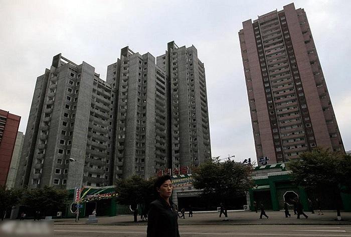Một tòa nhà cao tầng ở Bình Nhưỡng