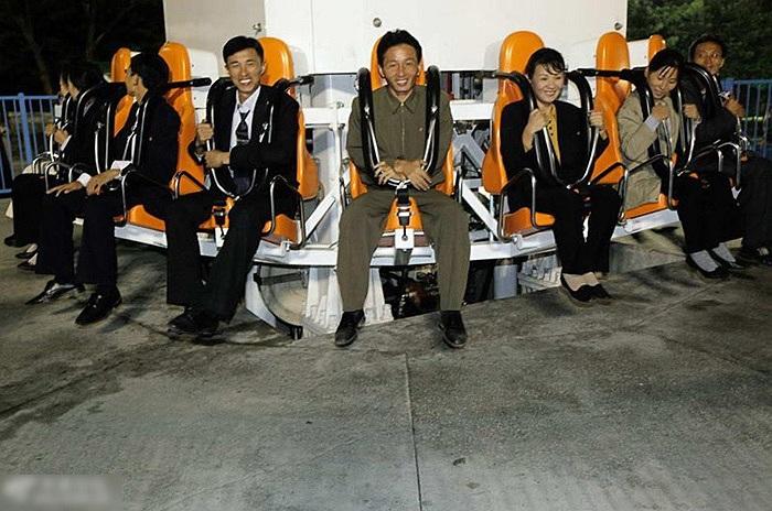 Một thiết bị vui chơi giải trí trong công viên Bình Nhưỡng