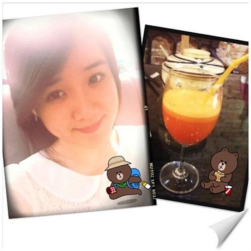 Miss Teen Xuân Mai sau giờ học.