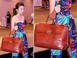 Tại nhiều sự kiện, siêu mẫu chọn những chiếc đầm đắt giá của các thương hiệu lừng danh thế giới, luôn đi kèm là chiếc túi sang trọng và đắt đỏ cùng nhãn hàng.