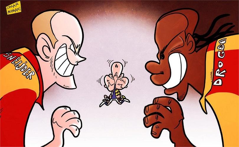 Cổ động viên Galatasaray chưa quen với sự có mặt của hai siêu sao của bóng đá thế giới: Wesley Sneijder, Didier Drogba