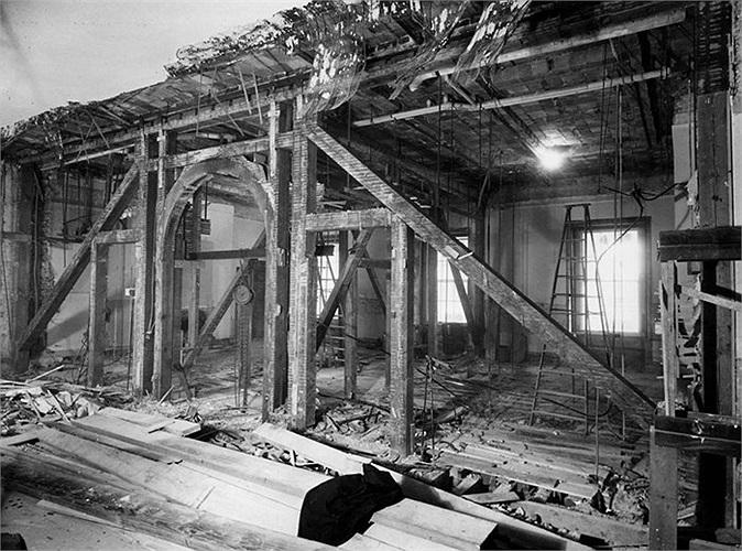 Các kết cấu cũ được thay thế bằng bê tông và thép hoàn toàn mới