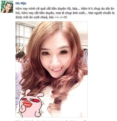 Hotgirl Hà Min nhí nhảnh khoe cắt tiền duyên xong sẽ tổ chức đám cưới.