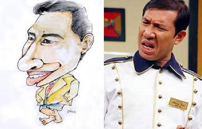 Nghệ sĩ hài Quang Thắng với cái bĩu môi đã trở thành thương hiệu trên sân khấu hài kịch.