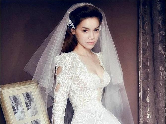 Ngắm Hồ Ngọc Hà lộng lẫy trong chiếc váy cưới thiêng liêng.