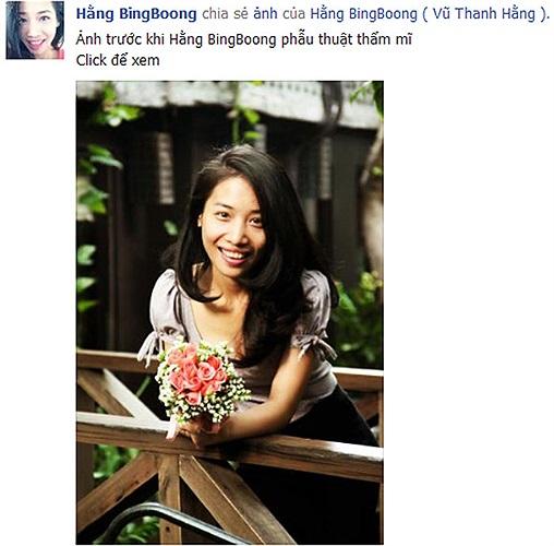 Hằng BingBoong khoe ảnh trước khi đi phẫu thuật thẩm mỹ. Nhưng nhiều độc giả cho rằng cô gần như không có gì khác so với hiện tại.