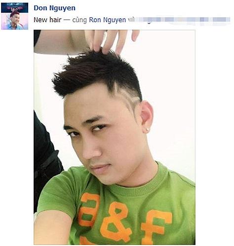 Don Nguyễn khoe tóc mới ngày đầu năm, khá độc đáo.