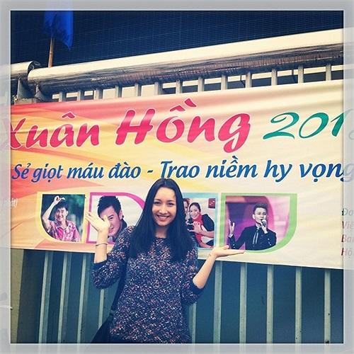 Anna Trương làm đại sứ lễ hội hiến máu Xuân Hồng 2013.