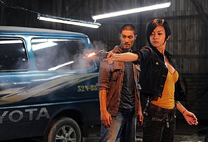 Trí Nguyễn và Ngô Thanh Vân trong Bẫy rồng - bộ phim với nhiều cảnh cháy nổ, bắn nhau đều do Phương 'khói lửa' thực hiện.