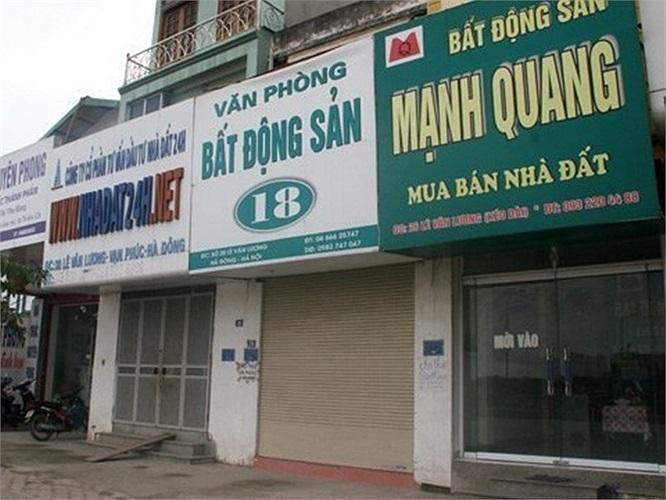 Khu vực Lê Văn Lương, Vạn Phúc, Hà Đông, số sàn mở cửa chỉ đếm trên đầu ngón tay. (Theo Duy Anh/Vietnamnet)