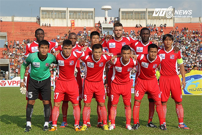 Đội hình xuất phát của CLB Đồng Nai.