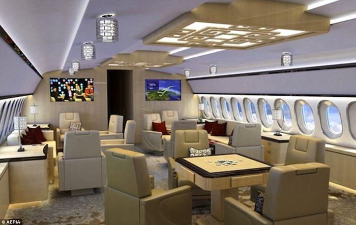 Máy bay có thể được thiết kế để làm việc và nghỉ ngơi