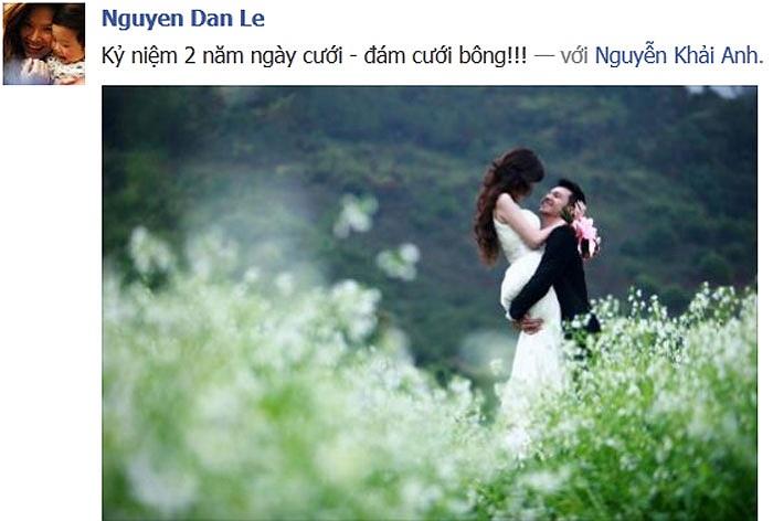14/2 năm nay cũng là ngày kỉ niệm tròn 2 năm ngày cưới của cặp đôi này.